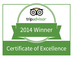 TripAdvisors Certificate of Excellence Award 2014
